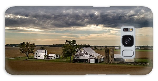 Farmstead Under Clouds Galaxy Case