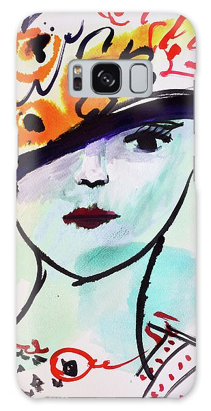 Fashion, Vintage Hat With Flowers Galaxy Case