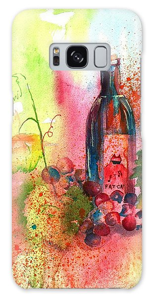 Fat Cat Wine Galaxy Case by Sharon Mick