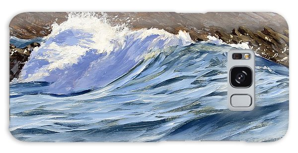 Galaxy Case featuring the painting Fat Wave by Lawrence Dyer