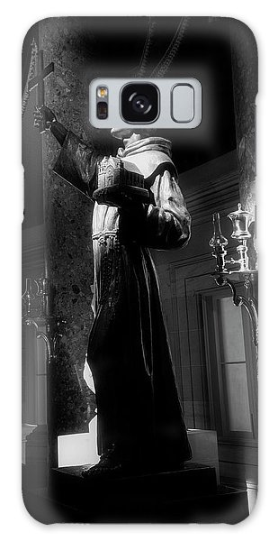 Father Junipero Serra In Black And White Galaxy Case