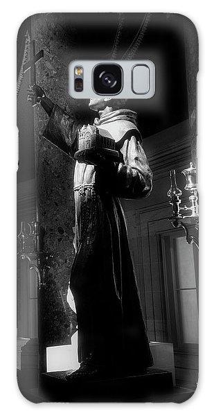 Father Junipero Serra In Black And White Galaxy Case