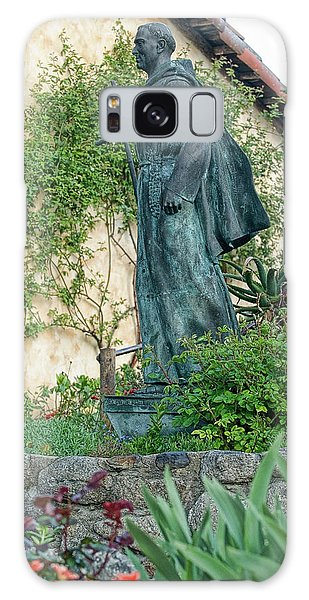 Father Junipero Serra Statue At Mission Carmel Galaxy Case
