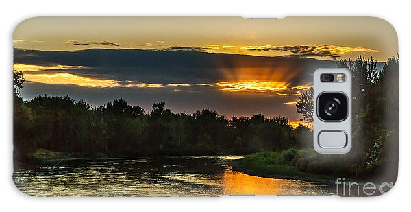 Haybale Galaxy Case - Father's Day Sunset by Robert Bales