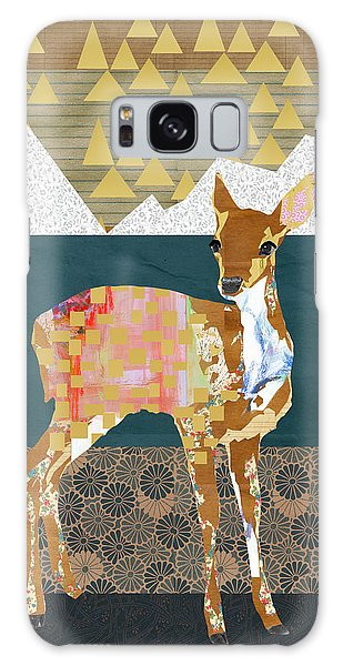 Fall Galaxy Case - Fawn Collage by Claudia Schoen