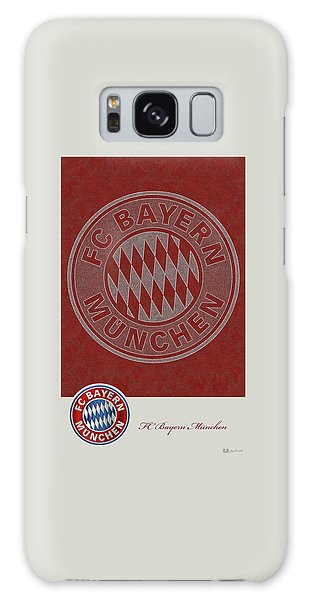 Fc Bayern Munich Logo And 3d Badge Galaxy Case