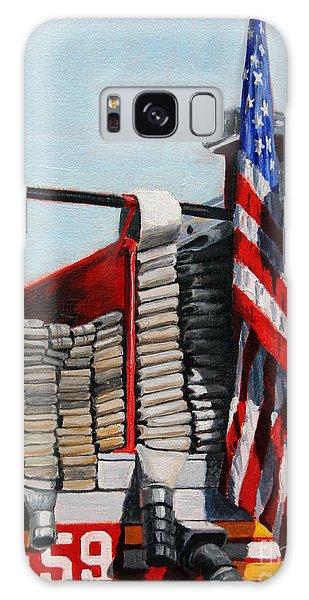 Fdny Engine 59 American Flag Galaxy Case by Paul Walsh