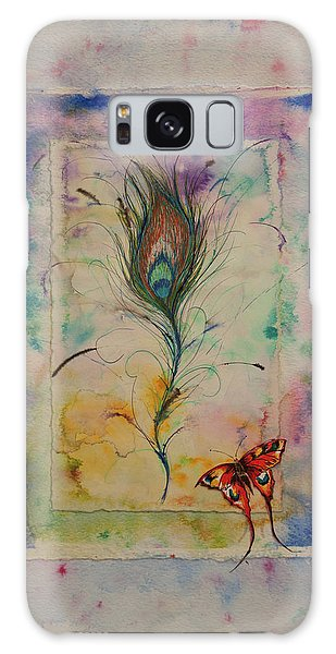 Feather And Butterfly Galaxy Case