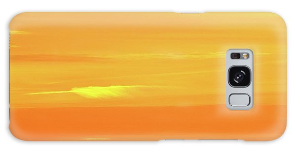 Feather Cloud In An Orange Sky  Galaxy Case
