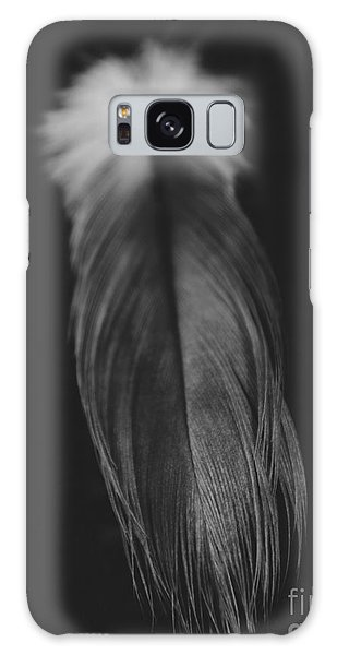 Feather In Black And White Galaxy Case