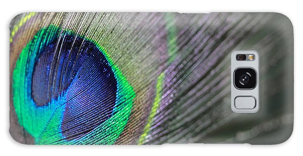 Feather In Green Galaxy Case