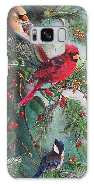 Feathered Friends  Galaxy Case