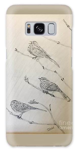 Feathers Friends Galaxy Case