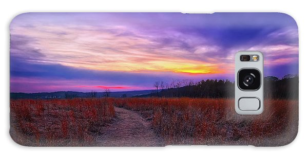 February Sunset And Path At Retzer Nature Center Galaxy Case by Jennifer Rondinelli Reilly - Fine Art Photography