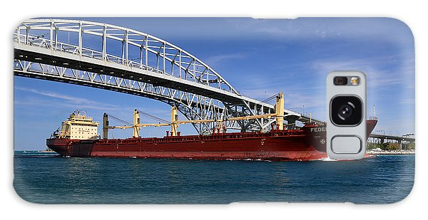 Federal Weser And Blue Water Bridge Galaxy Case by Mary Bedy