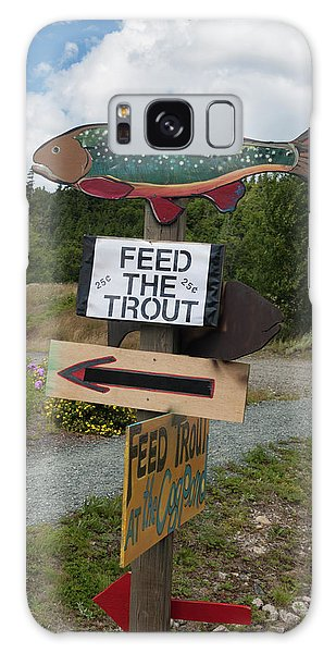 Feed The Trout Galaxy Case by Suzanne Gaff