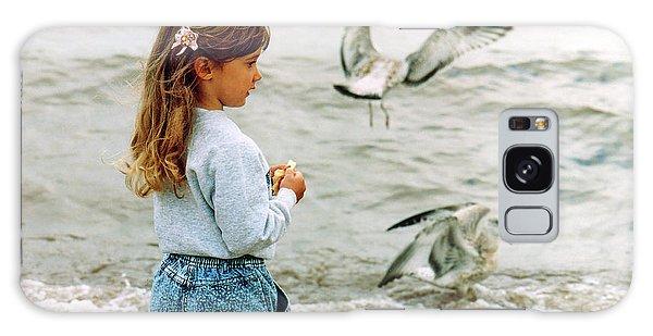 Feeding Gulls Galaxy Case