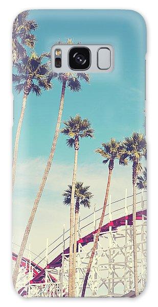 Feels Like Summer - Boardwalk Roller Coaster Photograph Galaxy Case