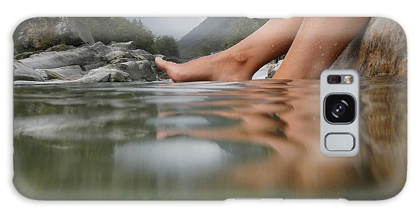 Feet On The Water Galaxy Case
