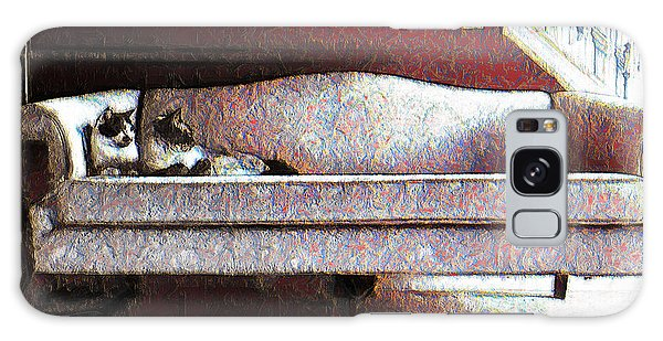 Felines Be Like... Galaxy Case by Iowan Stone-Flowers