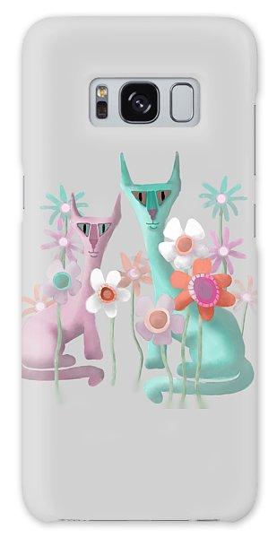 Felines In Flowers Galaxy Case