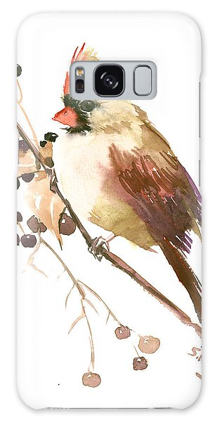 Female Cardinal Bird Galaxy Case