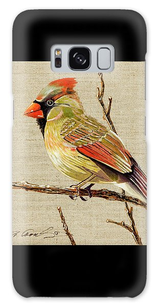 Female Cardinal Galaxy Case by Bob Coonts