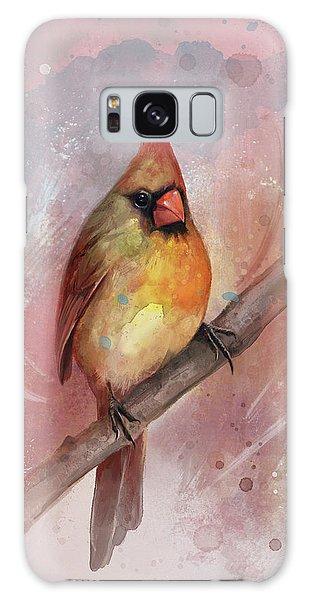 Cardinal Galaxy Case - Female Cardinal by Steve Goad