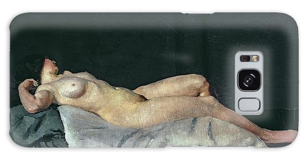 Woman Galaxy Case - Female Figure Lying On Her Back by Dora Carrington