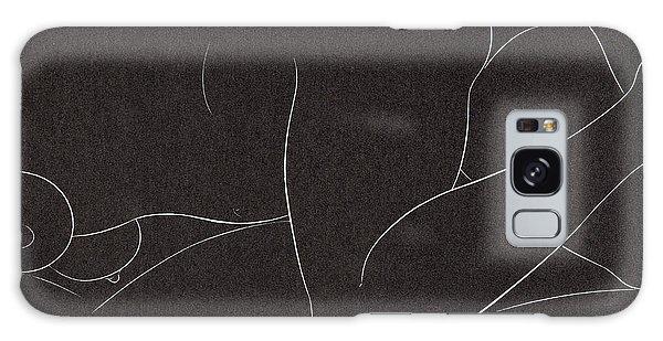 Beautiful Girl Galaxy Case - Female Nude Lying by Eric Gill