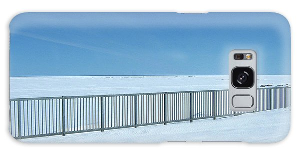 Fence In Snow Galaxy Case
