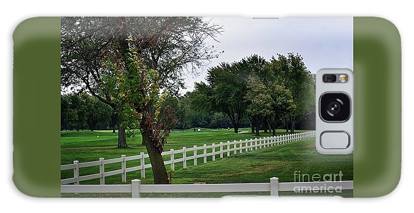 Fence On The Wooded Green Galaxy Case