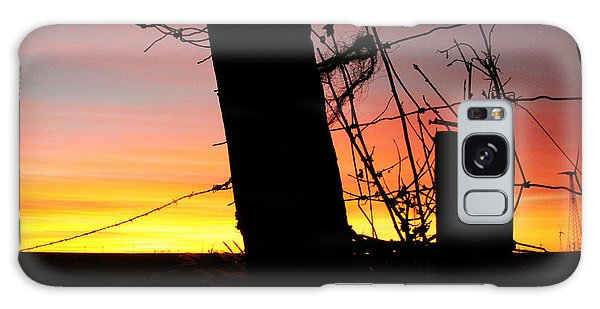 Fence Sunrise Galaxy Case