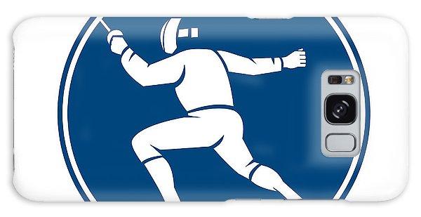 Sportsman Galaxy Case - Fencing Side Circle Icon by Aloysius Patrimonio