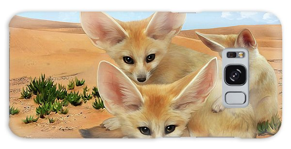 Fennec Foxes Galaxy Case by Thanh Thuy Nguyen