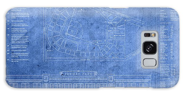 Fenway Park Blueprints Home Of Baseball Team Boston Red Sox On Worn Parchment Galaxy Case