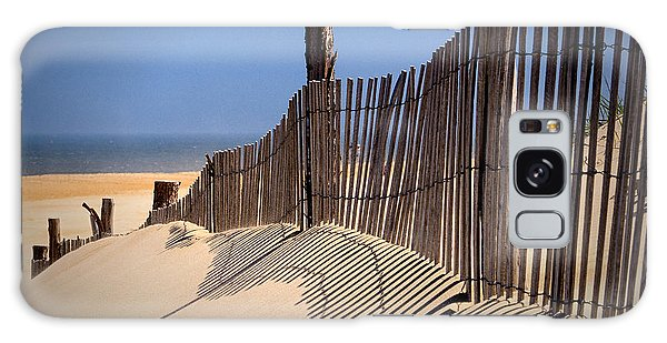 Fenwick Dune Fence And Shadows Galaxy Case