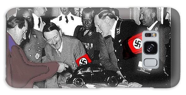 Ferdinand Porsche Showing The Prototype Of The Vw Beetle To Adolf Hitler 1935-2015 Galaxy Case