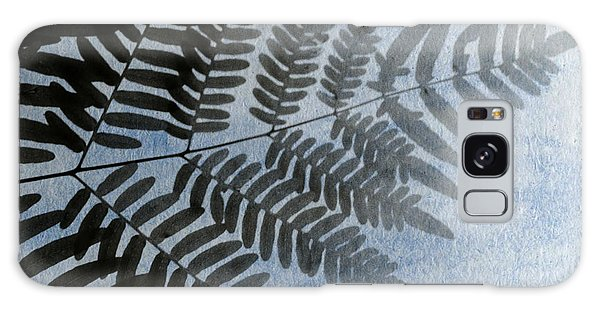 Fern Abstracted In Blue Galaxy Case