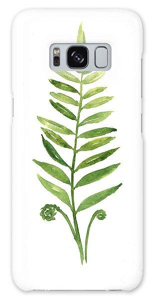 Garden Galaxy S8 Case - Fern Leaf Watercolor Painting by Joanna Szmerdt