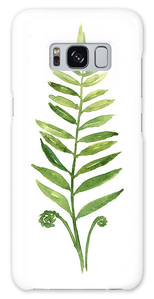 Gardens Galaxy Case - Fern Leaf Watercolor Painting by Joanna Szmerdt