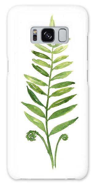Garden Galaxy Case - Fern Leaf Watercolor Painting by Joanna Szmerdt