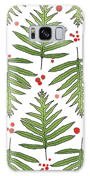 Ferns And Scattered Lychees Galaxy Case
