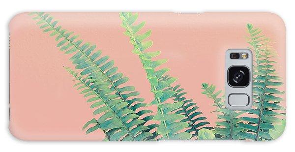 Ferns On Pink Galaxy Case