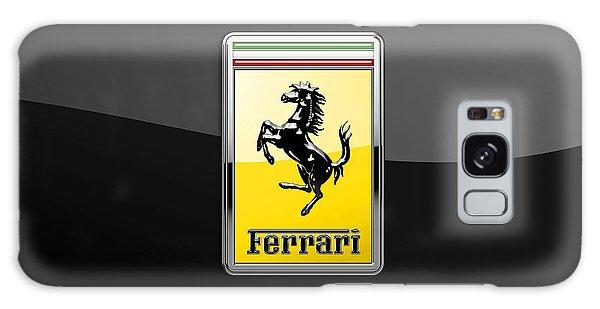 Automotive Galaxy Case - Ferrari 3d Badge- Hood Ornament On Black by Serge Averbukh