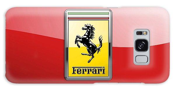 Automotive Galaxy Case - Ferrari 3d Badge-hood Ornament On Red by Serge Averbukh