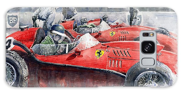 Car Galaxy S8 Case - Ferrari Dino 246 F1 1958 Mike Hawthorn French Gp  by Yuriy Shevchuk