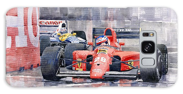 Car Galaxy S8 Case - 1991 Ferrari F1 Jean Alesi Phoenix Us Gp Arizona 1991 by Yuriy Shevchuk
