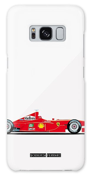 Ferrari F2001 F1 Poster Galaxy Case