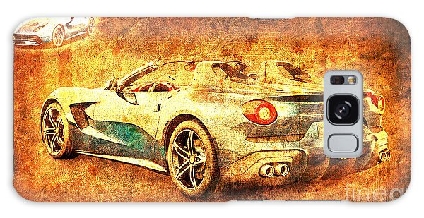 Sport Art Galaxy Case - Ferrari F60 America, Golden Poster, Birthday Gift For Men by Drawspots Illustrations